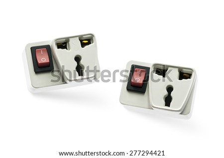 Round North American Electrical Outlet On Stock Photo 277294421 ...