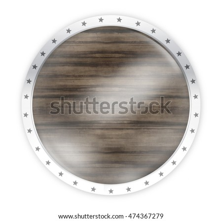 round opacity button icon 3d render isolated on white