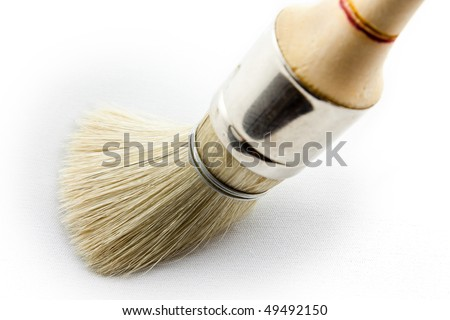 round paint brush - macro image - painter tool