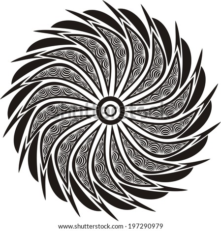 Round pattern design element illustration