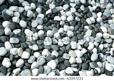 round peeble stones - stock photo