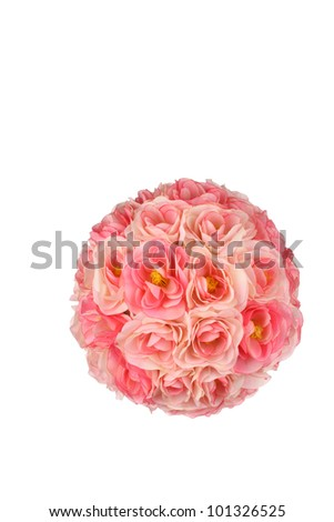 Round pink rose ball - stock photo