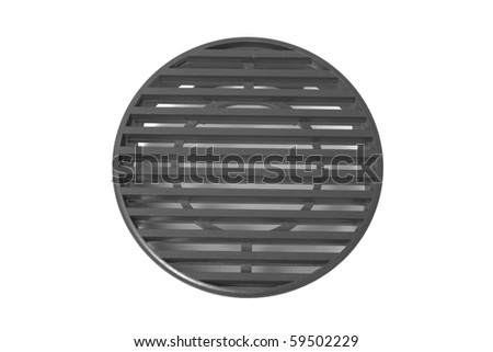 Round plastic grid isolated on white background