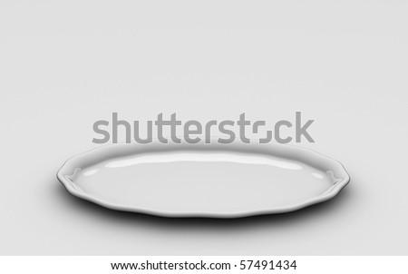 Round Plate - stock photo