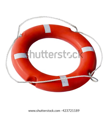 Round red and white lifebuoy. Water rescue life buoy isolated on white background life buoy. saving from danger. 	Isolated image of means of escape. beach holiday. Holidays, travel yacht at sea. - stock photo