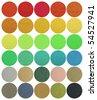 Round shape color textile chart - stock photo