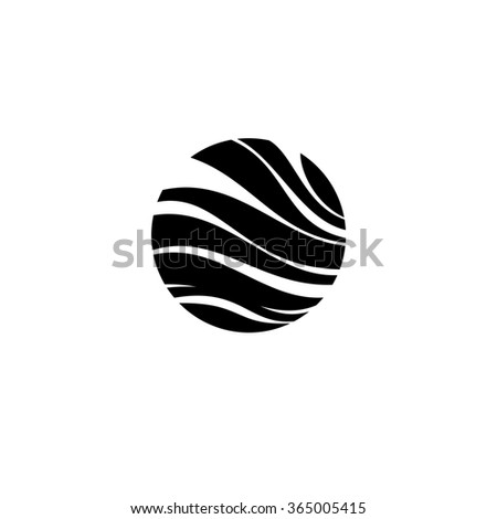 Round sign. Round abstraktry sign. Logo. Business icon for the company. This concept graphic  represents lighting design. Industry. Sport. Fitness classes. Illustration. - stock photo