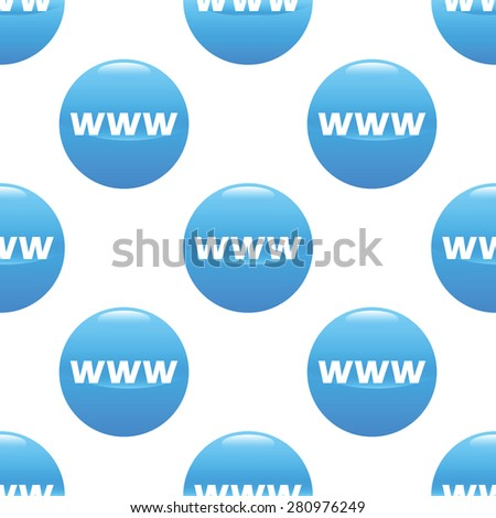 Round sign with text WWW repeated on white background - stock photo