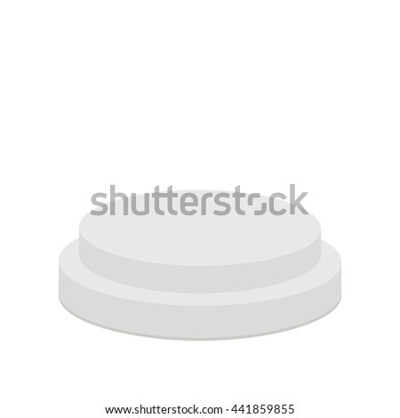 Round stage podium.3d realistic platform for design. Isolated. White background. Template. Flat design.