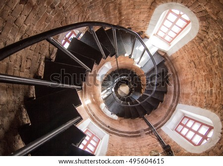Round staircase in tower