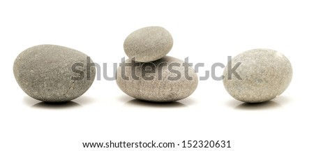 round stones isolated on white