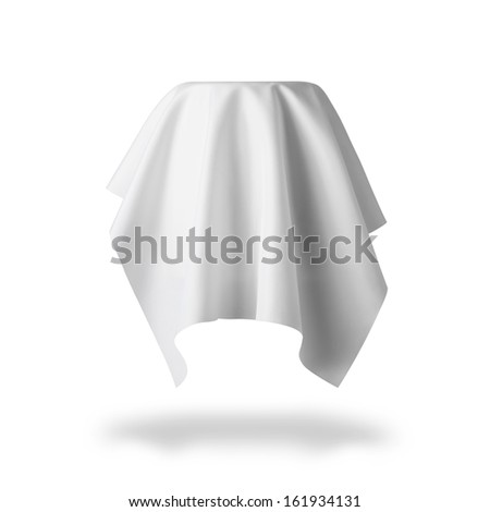 round table and cloth - stock photo