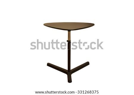 Round table. 3d illustration on white background,computer Desk,Desk on white background - stock photo