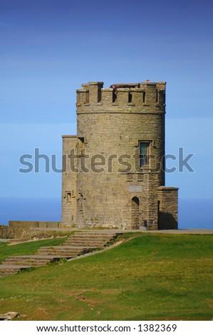 Round Tower Castle, Lisdoonvarna, Co. Clare, Ireland - stock photo