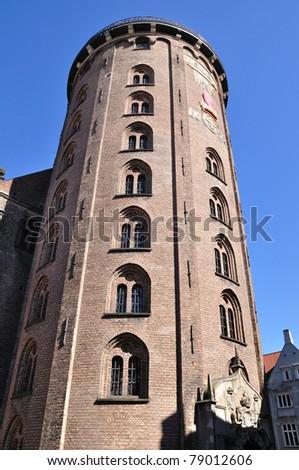 Round Tower - Copenhagen, Denmark - stock photo