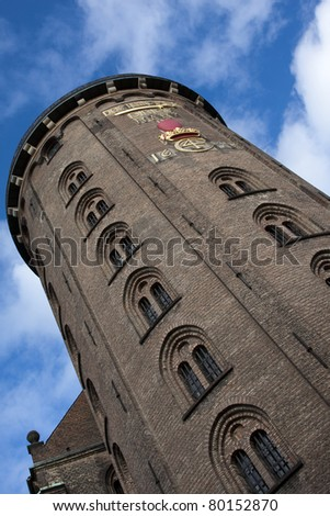 Round Tower, Copenhagen, Denmark (Rundet?rn) - stock photo