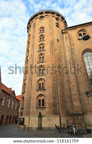 Round Tower in Copenhagen - stock photo