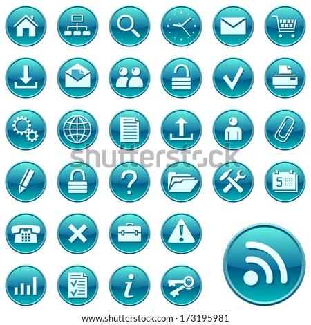 Round web icons. Raster version of EPS image 27976235  - stock photo