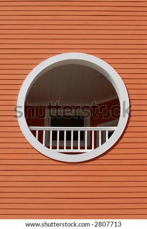 Round Window - stock photo