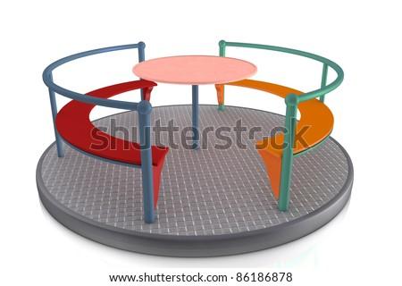 Roundabout - stock photo
