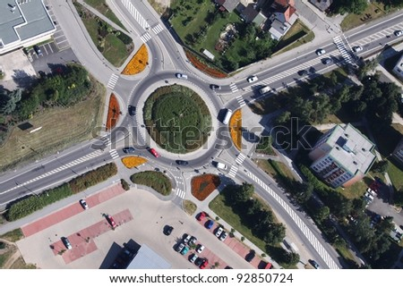 roundabout - stock photo