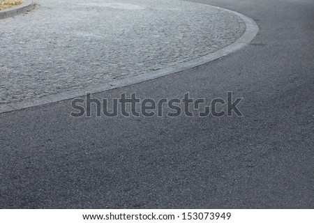roundabout traffic circle, rotary asphalt - stock photo