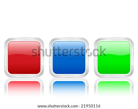 Rounded squares icons isolated on white background.