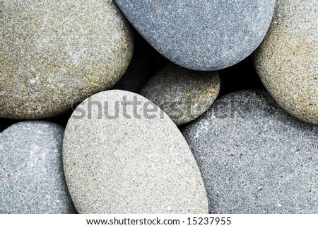 Rounded stones - stock photo