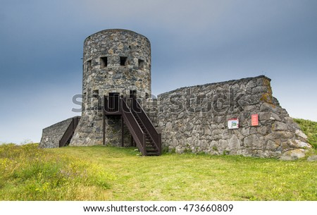 Rousse Tower No 11. One of 15 Loophole Towers built around the coast of Guernsey in 1778-1779.