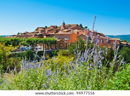 Roussillon's Village, Provence, France - stock photo
