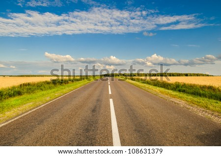 route - stock photo