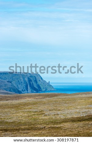 Route E69 between Honningsvag and North Cape in Finnmark, Northern Norway
