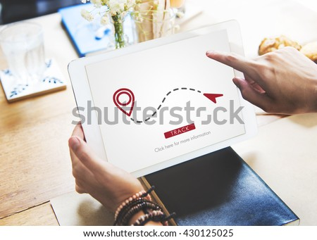 Route GPS Location Direction Position Transport Concept - stock photo