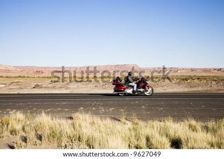 Route 89 in Arizona, USA near Page - stock photo
