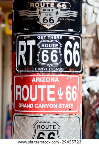 Route 66 plate