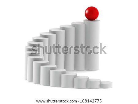 Route to success - stock photo