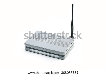 router on a white background