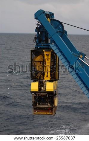ROV Submarine with TMS - stock photo