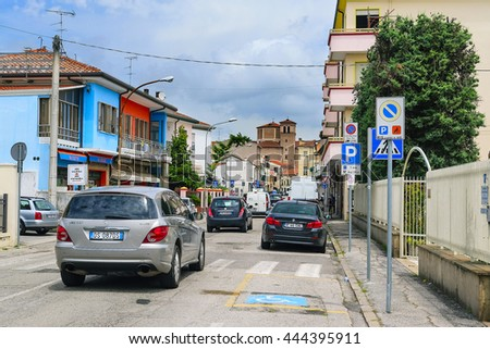 Rovigo, Italy - June, 17, 2016: cars on a street