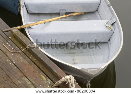 Row Boat - Rockport, Massachusetts, USA - stock photo