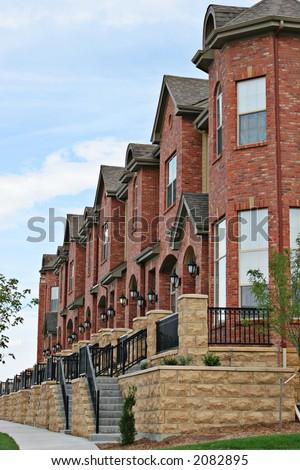Row houses - stock photo