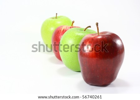 row of apple