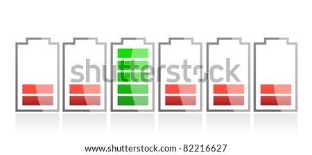 row of batteries illustration design - stock photo