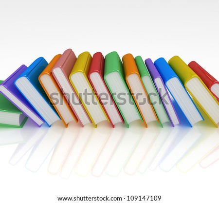 Row of Books - stock photo