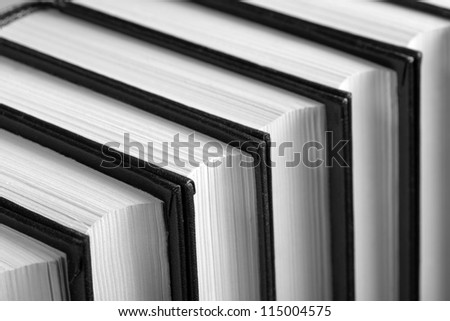 Row of books. Closeup view - stock photo