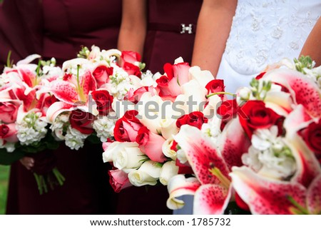 Row of Bouquets - stock photo