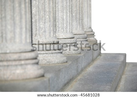row of columns - stock photo