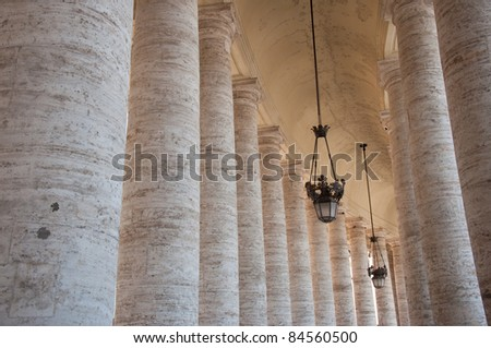 Row of columns in St. Peter's Square