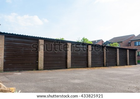 Row of garages, Conceptual image of safety