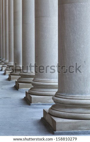 Row of Greek-style columns.